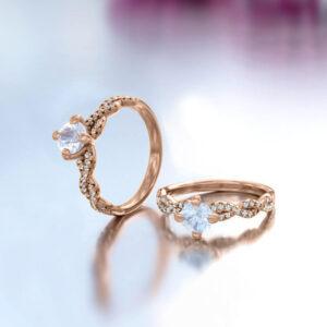 anillo de compromiso oro rosa 18k beirut