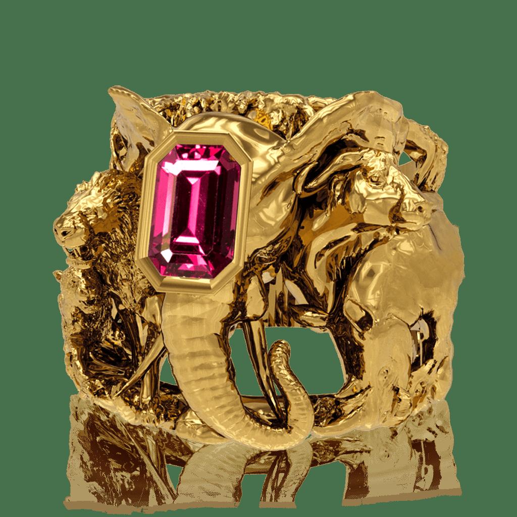 savanna ring elefant